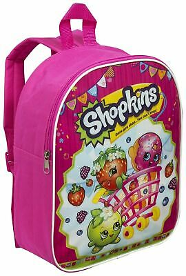 Shopkins Girls Backpack Kids Nursery Bag Rucksack School Shoulder Bags - Pink