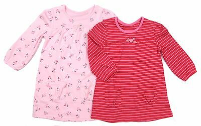 Baby Girls Dress Long Sleeve Cotton Dress Two Styles To Choose From FS To 12-18M