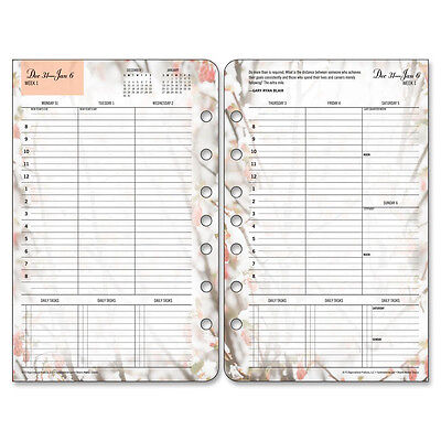 """2017  Franklin Blooms Classic Planner Refill Weekly  5.50"""" x 8.50""""  35448"""