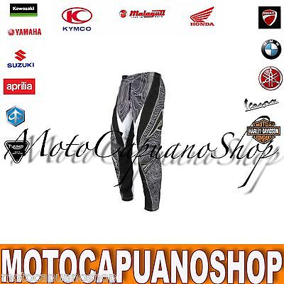 Pantalone Taglia 44 Acerbis Profile Nero Cross Enduro Quad
