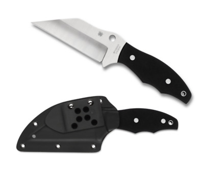 "Spyderco Ronin 2 FB09GP2 Fixed Blade Knife, 4.12"" BD1N Plain Edge Blade- Dealer"