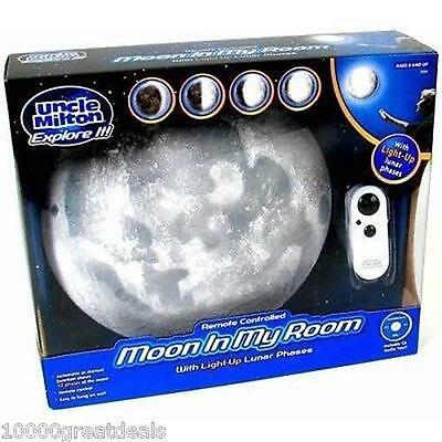 Moon In My Room: Uncle Milton Night Light Lunar Lamp Phases w/ Remote Control