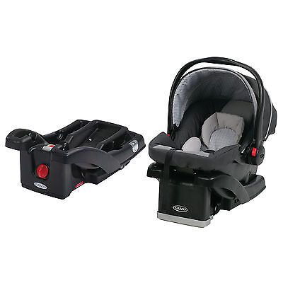 Graco SnugRide 30 Click Connect Baby Infant Car Seat with Extra Base, Glacier