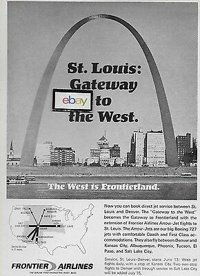 Frontier Airlines Boeing 727 Arrow Jets To St Louis From Denver Ad