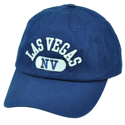 Las Vegas Nevada Sin City Navy Blue Hat Cap Lights Arch Relaxed NV State USA d1abc5f51c76