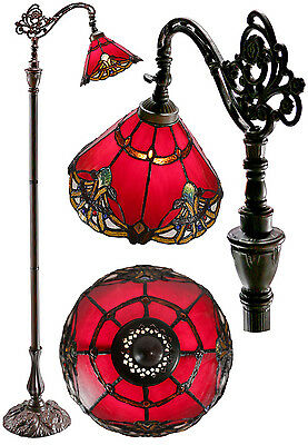 out of stock@Tulip Leadlight Stained Glass Tiffany Floor Torchiere Lamp