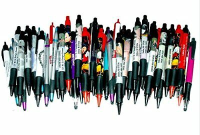 50 Wholesale Lot Misprint Ink Pens, Ball Point, Plastic, Retractable New