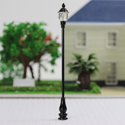 LQS20 10 Model Railroad train Lamp posts Led street light Antique Lamps O scale