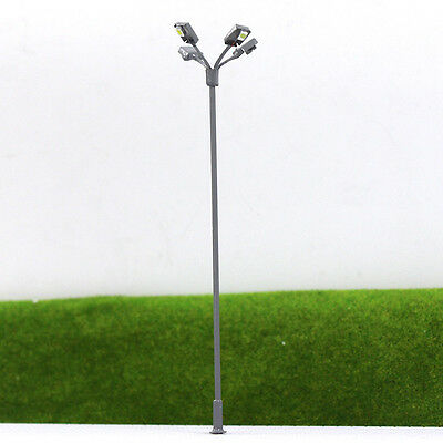 LSL04 5pcs Model Railway Lamppost Lamps Led Street Lgihts Yard OO/HO Scale 12V