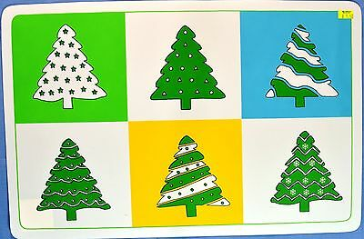 Green Christmas Trees Placemat