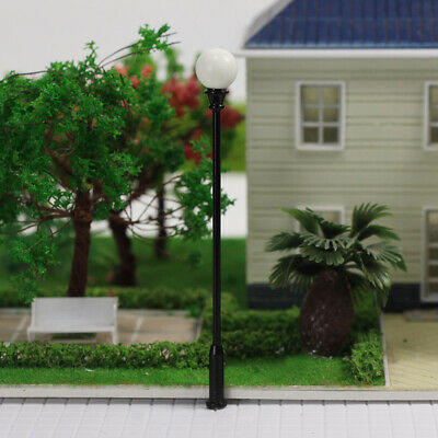LQS26 10 Model Railroad train Lamp posts Led street light Antique Lamps O scale