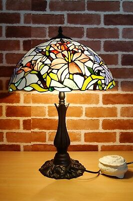 """Now in Stock@ Dragonfly Leadlight Stained Glass Large 16"""" Tiffany Table Lamp"""