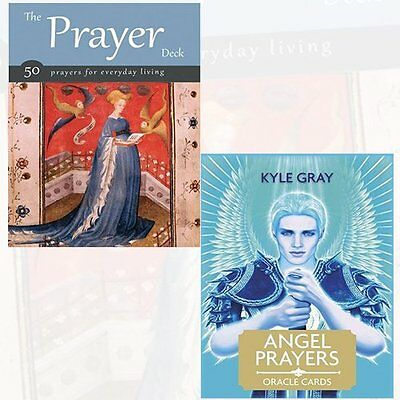 Prayer Deck and Angel Prayers Oracle Cards 2 Bundle Collection BY Kyle Gray