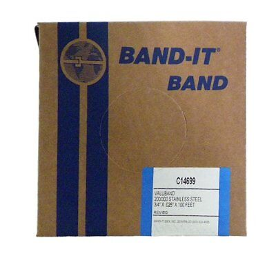 "BAND-IT Valuband Band C14699, 200/300 Stainless Steel, 3/4"" wide x 0.025"" New"