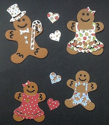 Christmas Gingerbread Family Die Cuts - Assorted Styles in Sets of 4