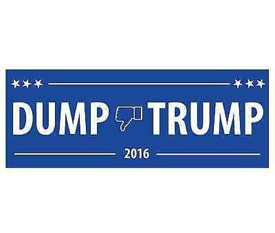1 Dump Trump 2016 - DUMP Donald Trump Vinyl Bumper Sticker - FREE SHIP!