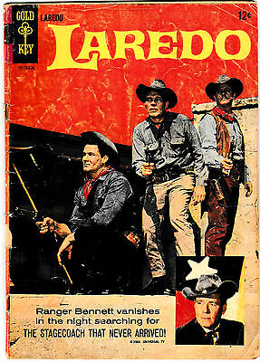 LAREDO #1 (VG) Gold Key 1966 Classic Western TV Show! Photo Cover! Only Issue