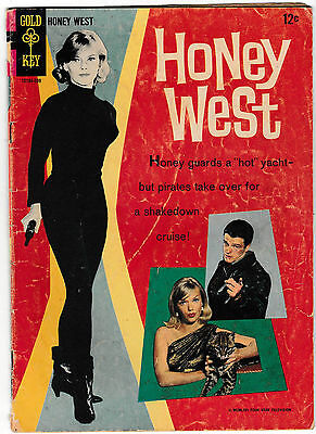HONEY WEST #1 (VG) Classic TV Show! Photo Cover! Only Issue 1966 Gold Key