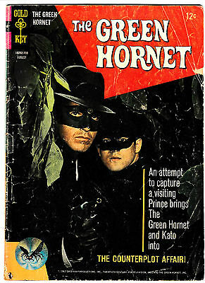 GREEN HORNET #3 (VG+) TV Show! Bruce Lee Photo Covers! 1967 Last Gold Key Issue!