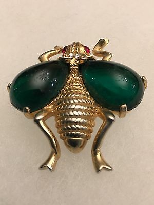 Vintage 1960s Brooch / Pin Bee / Insect Fly A Watsonian Bee Perhaps