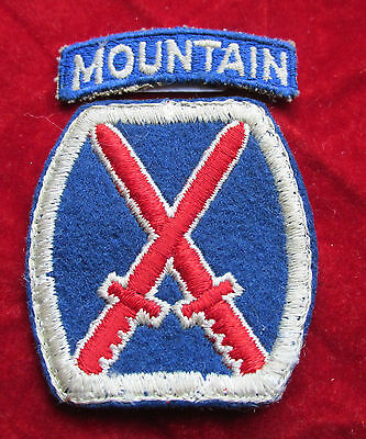 10th  Infantry Division patch w / correct tab  REALLY Premium Quality Mountain