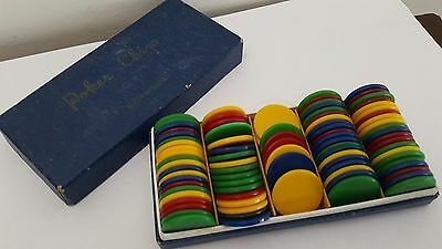 Vintage Boxed Poker Chips - Made in Japan