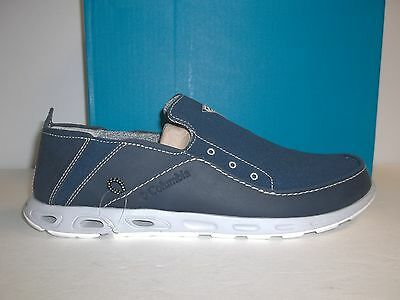 Columbia Sz 10.5 Bahama Vent PFG Blue Canvas Leather Water Sports New Mens Shoes