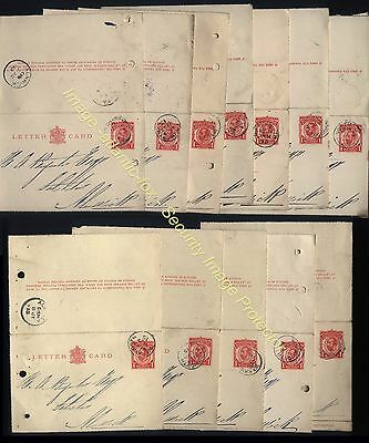 1912-18 GV 1d LETTERCARD Stationery lot of 25 items used at WARKWORTH to ALNWICK