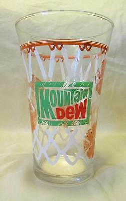 Mountain Dew Basketball Glass drinking vintage