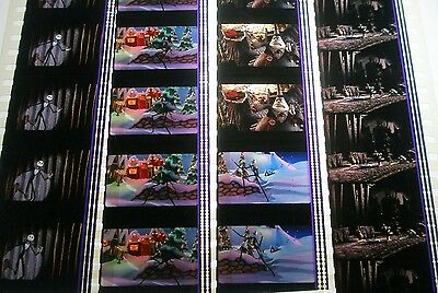 Disneys-Nightmare Before Christmas -Very Rare Unmounted 35mm Film Cells-4 Strips