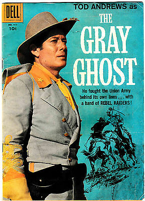 FOUR COLOR #911 (VG+) THE GRAY GHOST TV Classic Western 1958 Dell Comic