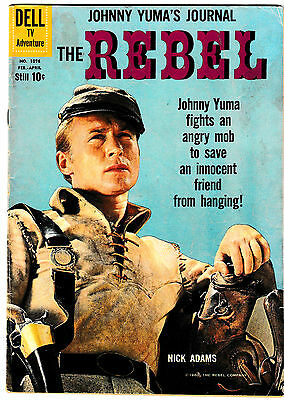 FOUR COLOR 1076 (VG+) THE REBEL Movie Classic Western! Johnny Yuma! 1960 Dell