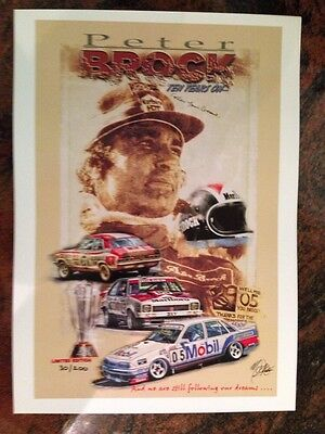 Peter Brock Ten Years On Bathurst 1000 Print Limited Edition 30 Of 200