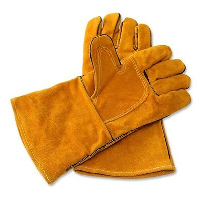 Protective Welding Gloves Heat Shield Split Cowhide Leather Stick Safety