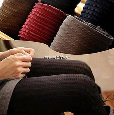 Stylish Women Winter Warm Pantyhose Tights Thick Knit Footed Cotton Stockings