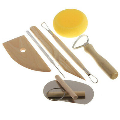 8Pcs Wax/Clay/Ceramic Art Crafts Wood Carving Modelling Tools Set