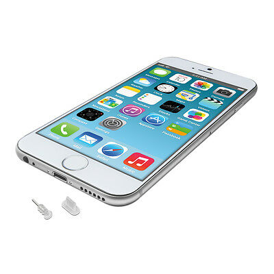 kwmobile STAUB SCHUTZ SET FÜR APPLE IPHONE 6 6 PLUS TRANSPARENT STÖPSEL STECKER