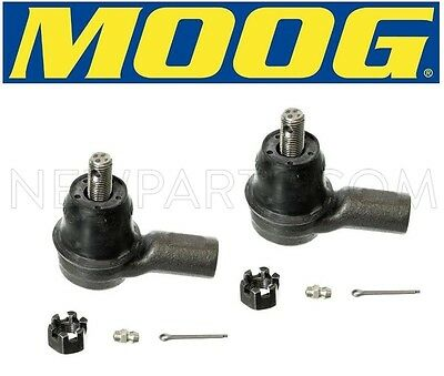 For Acura RSX Honda Element Pair Set of 2 Front Outer Steering Tie Rod Ends Moog