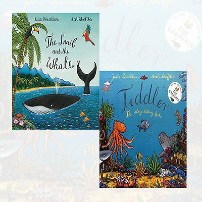 Tiddler, The Snail and the Whale by Julia Donaldson 2 Books Collection Set NEW