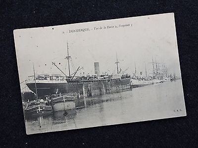 Compagnie Freycinet - Dunkerque  -  Carte Postale Paquebot