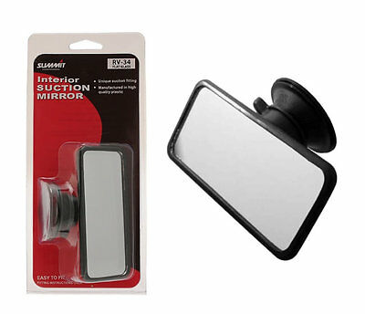 11 x 5.5cm UNIVERSAL CAR INTERIOR SUCTION SMALL REAR VIEW FLAT MIRROR SUCTION