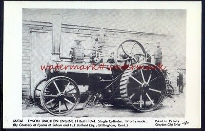 FYSON TRACTION ENGINE c1894. Pamlins Photo Postcard (m2143). VGC. Free UK Post