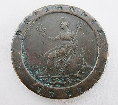 George Iii Cartwheel Penny 1797 Good Condition