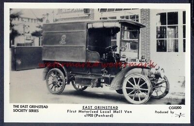 FIRST MAIL VAN at EAST GRINSTEAD, c1903. Pamlins Photo Postcard (CG0200). VGC.