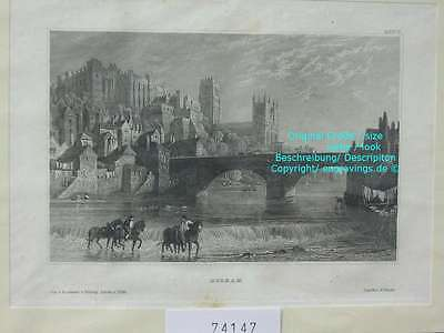 74147-GB-UK-England-Great Britain-Durham-Stahlstich-Steel engraving-1860