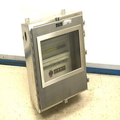 """Hoffman A-24H2412SSLP Stainless Industrial Control Panel Enclosure 24""""x24""""x12"""""""