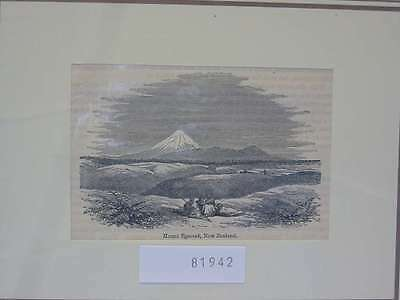 81942-Neuseeland-New Zealand-Mount Egmont-T Holzstich-Wood engraving