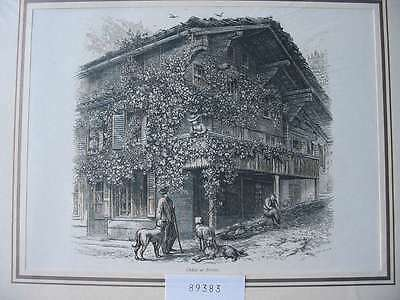 89383-Schweiz-Swiss-Switzerland-Brienz-T Holzstich-Wood engraving