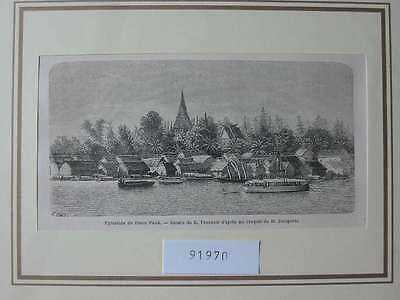 91970-Asien-Asia-Kambodscha-Cambodia-Pnom Penh-T Holzstich-Wood engraving