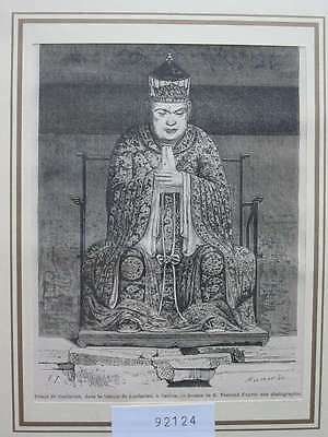 92124-Asien-Asia-China-Canton Kanton Confusius-T Holzstich-Wood engraving